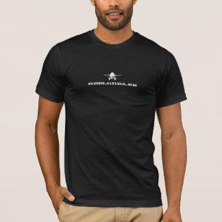 Spulen-Fett-T - Shirt: Weiß auf Schwarzem T-Shirt