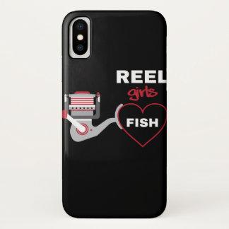 Spulen-Mädchen-Fische iPhone X Hülle