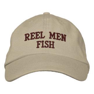 Spulen-Mann-Fische gestickter Hut