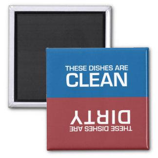 Spülmaschine sauber oder schmutzig quadratischer magnet