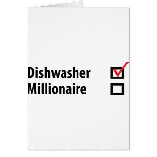 Spülmaschinen-Millionärsikone Grußkarte