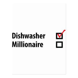 Spülmaschinen-Millionärsikone Postkarte