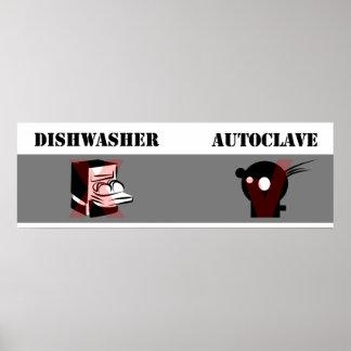 Spülmaschinen-nicht gleicher Autoklav Poster