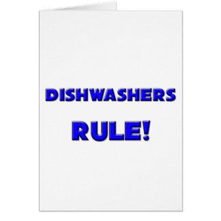 Spülmaschinen-Regel! Grußkarte