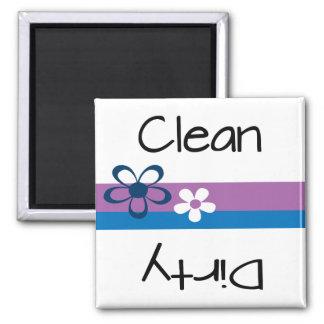Spülmaschinen-sauberer schmutziger Magnet Quadratischer Magnet