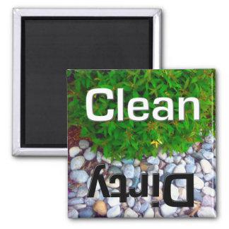 Spülmaschinen-sauberer und schmutziger Magnet Quadratischer Magnet