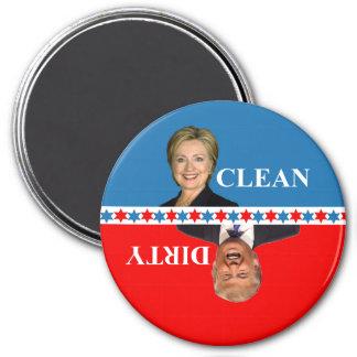 Spülmaschinenmagnet Clinton-Trumpf Runder Magnet 7,6 Cm
