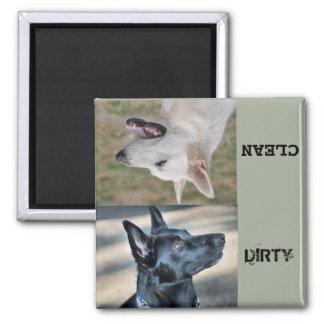 Spülmaschinenmagnet der Schäferhund-Rettungs-CTX Quadratischer Magnet