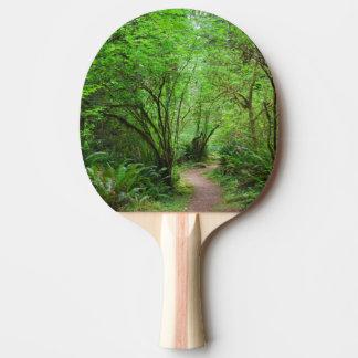 Spur im Rotholz-Wald Tischtennis Schläger