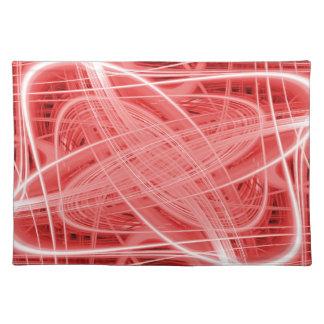 Spuren des roten und weißen Lichtes Stofftischset