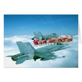 Spurhaltung von Weihnachtsmann durch die Luftwaffe Karten