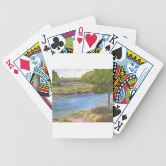 squamscott Fluss an den newfields am 31. Juli 2015 Bicycle Spielkarten