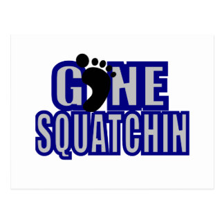 Squatchin Blau und lt Grau Logo Postkarte