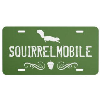 Squirrelmobile grün und Weiß - kundenspezifischer US Nummernschild