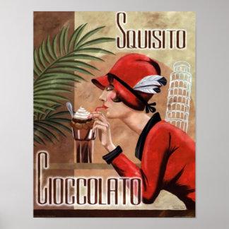 Squisito Cioccolato italienische Schokoladen-Frau  Plakatdruck