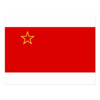 SR Makedonija zastava Postkarte