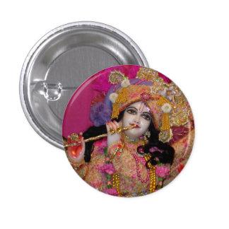 Sri-Krsna rosa Miniknopf Runder Button 2,5 Cm