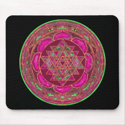 Sri Lakshmi Yantra Mandala Mousepad