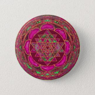 Sri Lakshmi Yantra Mandala Runder Button 5,7 Cm