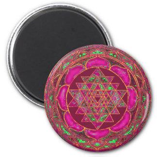 Sri Lakshmi Yantra Mandala Runder Magnet 5,1 Cm
