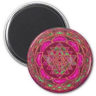 Sri Lakshmi Yantra Mandala Runder Magnet 5,7 Cm
