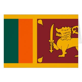Sri Lanka Flagge Karte