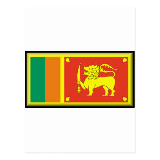 Sri Lanka Flagge Postkarte