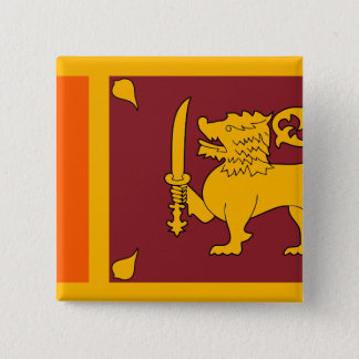 Sri Lanka Flagge Quadratischer Button 5,1 Cm