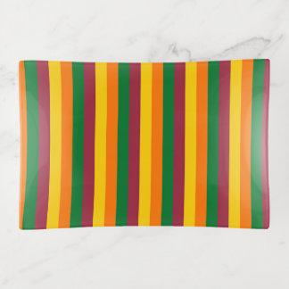 Sri Lanka Flagge stripes Linien Farbmuster Dekoschale