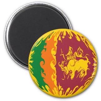 Sri Lanka Gnarly Flagge Runder Magnet 5,7 Cm