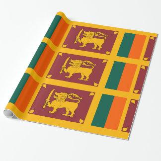 Sri Lanka Goldorange Grün Geschenkpapier