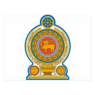 Sri Lanka Wappen Postkarte