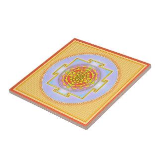 Sri Yantra - Artwork III Kleine Quadratische Fliese