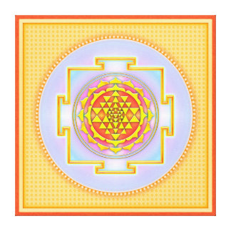 Sri Yantra - Artwork III Leinwand Drucke