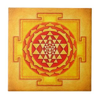 Sri Yantra - Artwork IV Kleine Quadratische Fliese