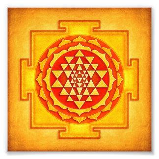 Sri Yantra - Artwork IV Photographischer Druck