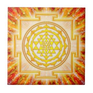 Sri Yantra - Artwork Licht Kleine Quadratische Fliese