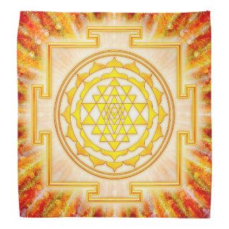 Sri Yantra - Artwork Licht Kopftuch