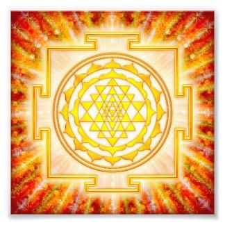 Sri Yantra - Artwork Licht Kunst Fotos