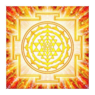 Sri Yantra - Artwork Licht Leinwand Drucke