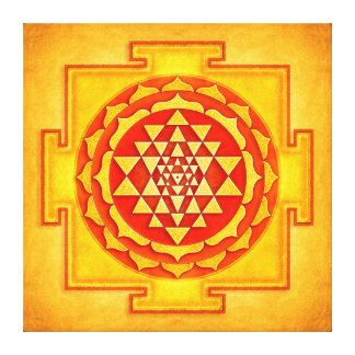 Sri Yantra - Artwork VI Galerie Gefaltete Leinwand