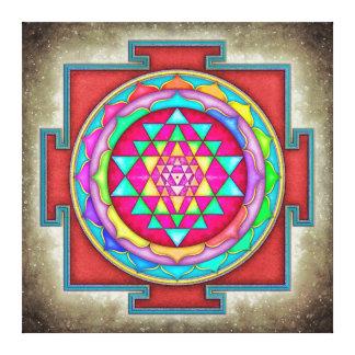 Sri Yantra - Artwork VII-VI Leinwanddruck