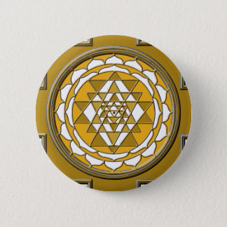 Sri Yantra Bronze Runder Button 5,7 Cm