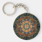 Sri Yantra - heilige Geometrie Schlüsselanhänger