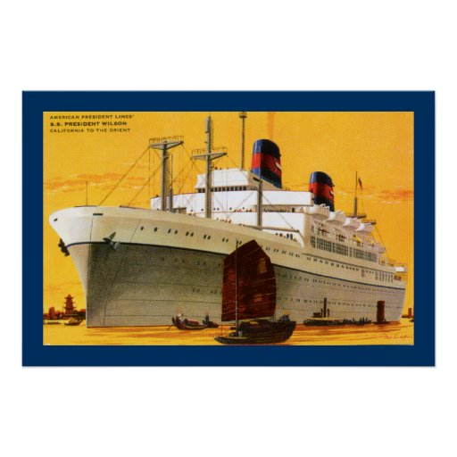 SS Präsident Wilson Plakate