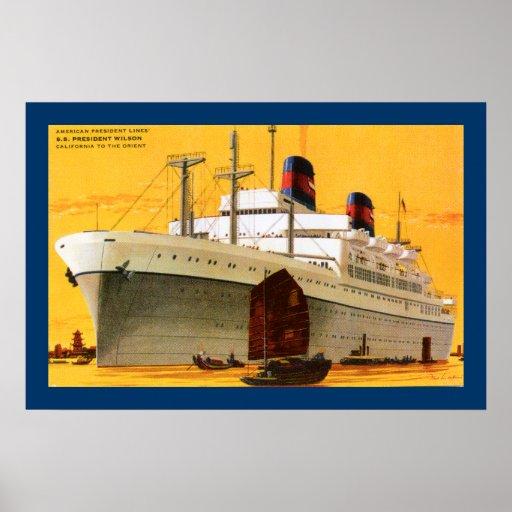 SS Präsident Wilson Poster
