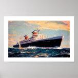 SS Vereinigte Staaten in Meer Plakat