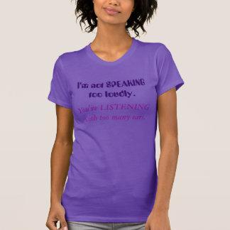 SSD-Bewusstseins-Shirt nicht zu laut sprechen T-Shirt