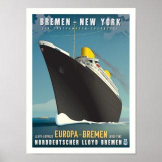 SSeuropa-Kunst-Deko-Reise-Plakat Poster