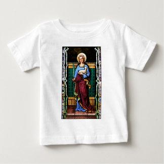 St. Agnes von Rom, Lamm und Palmblatt halten Baby T-shirt